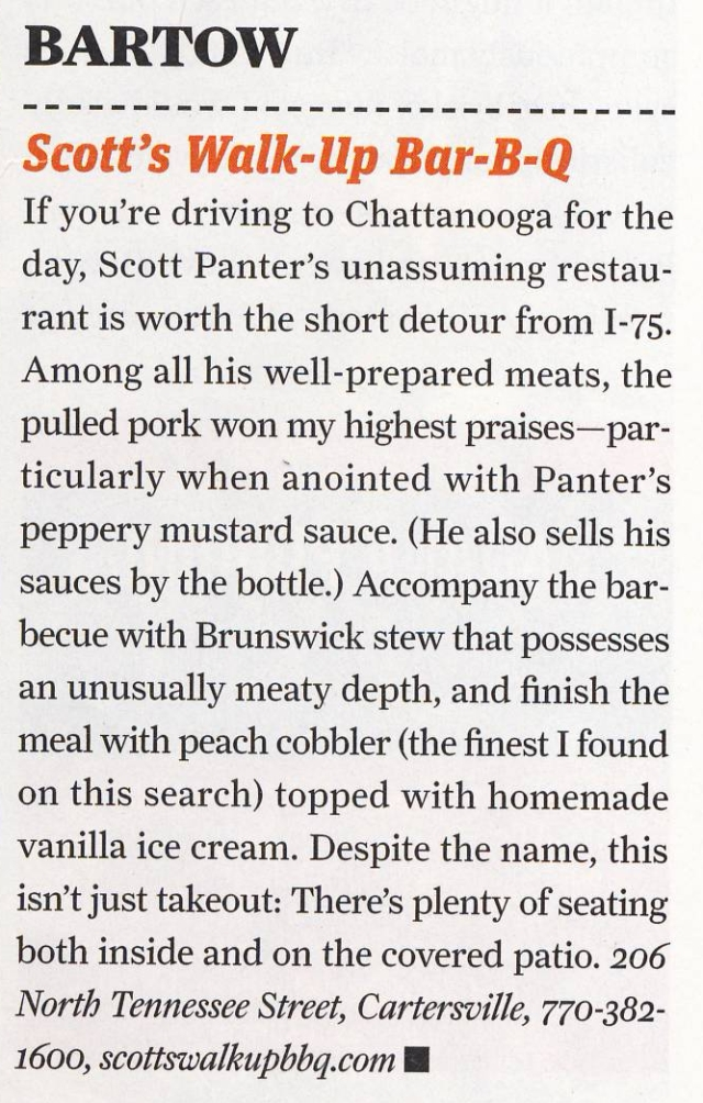 Atlanta Magazine BBQ Issue July 2010
