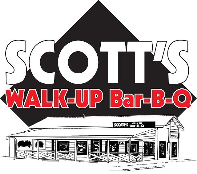 Scott's Walk-Up BBQ BarBQ Barbecue Barbeque Bar-B-Q
